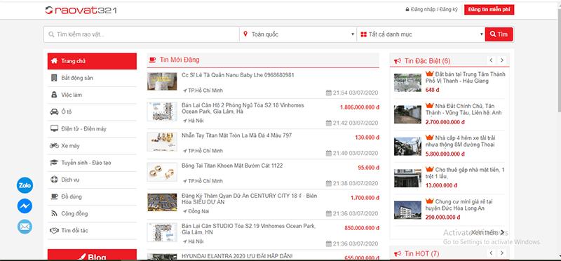 RaoVat321.com là 1 trong những website đăng tin mua bán nhà đất hiệu quả tại Ninh Thuận