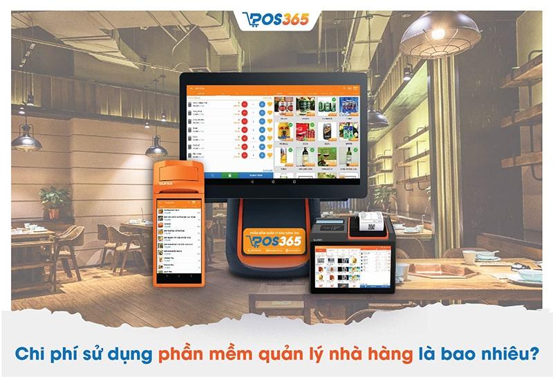 Chi phí mua phần mềm quản lý nhà hàng POS365