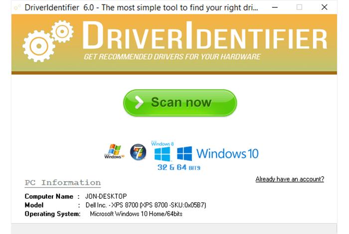 Sử dụng ứng dụng Driveridentifier để khắc phục máy tính bị giật lag khi chơi game