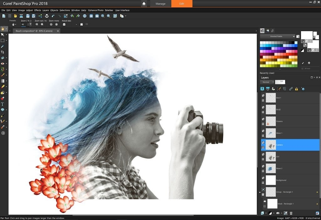 Corel PaintShop Pro là phần mềm chỉnh sửa ảnh khá phổ biến