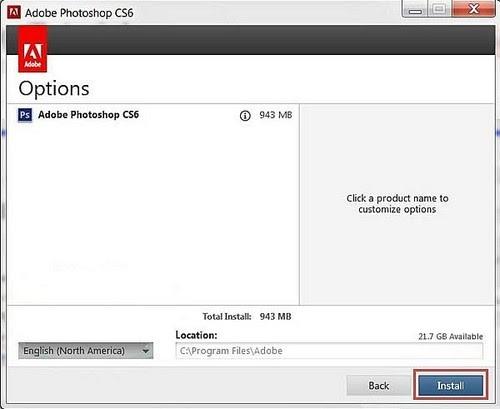 Các bước cài đặt Adobe Photoshop CS6