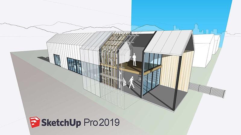Phần mềm thiết kế sân vườn 3D Sketchup 2019