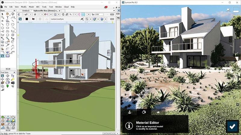 Phần mềm thiết kế sân vườn 3D Lumion 3D
