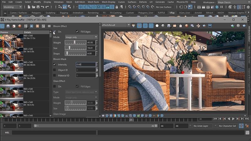 Phần mềm thiết kế sân vườn V-Ray